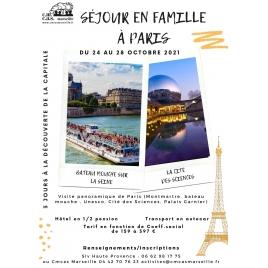 SEJOUR EN FAMILLE A PARIS