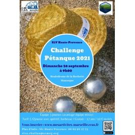 challenge de Pétanque SLV Haute-Provence